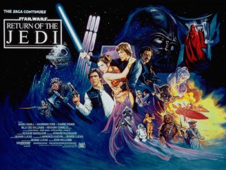 "1983's ""Return of the Jedi""; the first Star Wars movie to break the spell a little bit..."