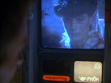"Blade Runner's ""Vid-Phon"" was a clunky, public payphone device."