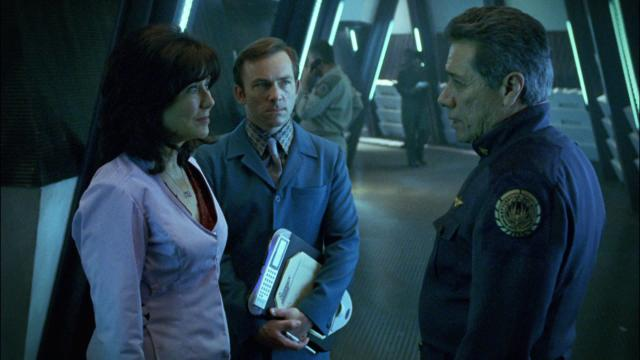 """Mary McDonnell and Edward James Olmos give tremendous star power to the reimagined """"Battlestar Galactica"""" miniseries."""