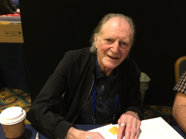 "Actor David Bradley, who bears and uncanny resemblance to the late William Hartnell, whose Doctor he's recreated for the current series. He also costars in the popular ""Game of Thrones"" series."