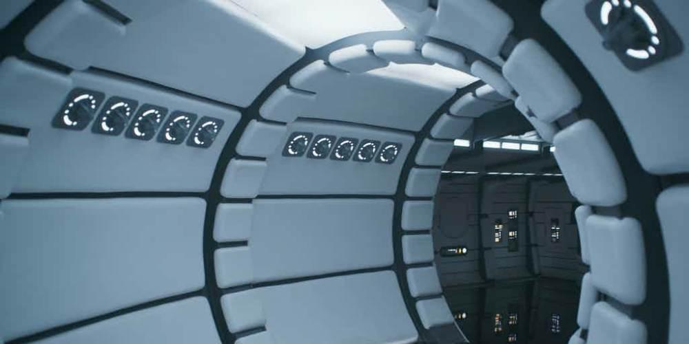 solo-a-star-wars-story-pristine-clean-millennium-falcon-interior-hallway