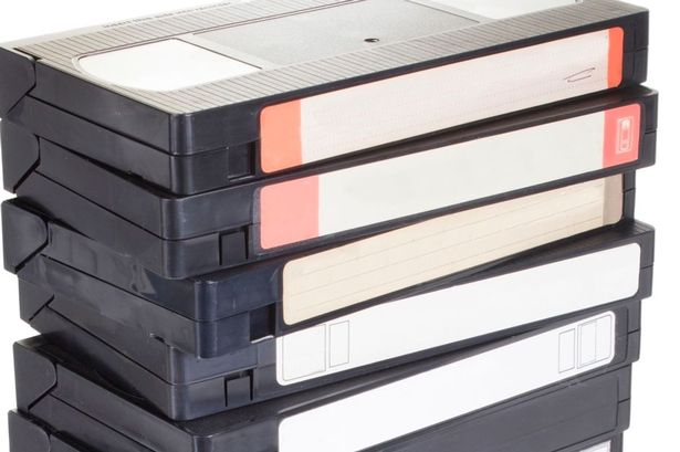 photo-of-a-stack-of-vcr-tapes-isolated-on-white
